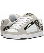 MENS GLOBE TILT SKATEBOARDING SHOES NIB WHITE GREY BLACK - $64.99