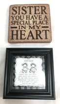 "Children of the Inner Light Sisters Picture Frame 4"" and Ceramic Plaque ... - $18.80"