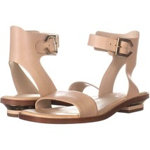 Cole Haan Avani Ankle Buckle Sandals 705, Nude Leather, 9.5 US - $56.63