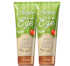 BATH & BODY WORKS Champagne Apple & Honey 8.0 Ounces Body Cream Duo Set - $26.58
