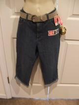 Nwt Lee Classic Fit Belted Capri Stretch Denim Capri - Women's Size 10 Nwt - $29.69