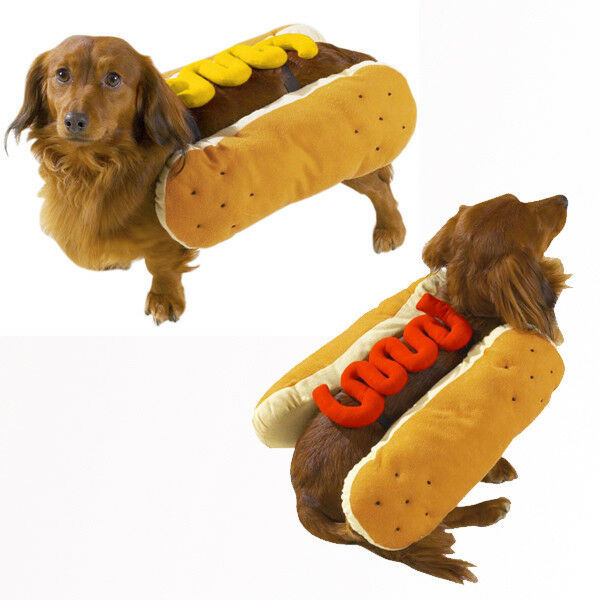 Dog Halloween Costume Hot Diggity Dog Pet costumes XS-XXL