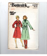 70s Butterick 4436 Boho Pullover Shirt Dress Sewing Pattern Size 12 - $11.88