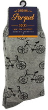 Bicycle Novelty Socks Mens Crew Gray Casual Cotton Blend Cyclist Sock Bi... - $12.95