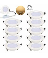 [Pack of 10] 7W Ultra-Thin Dimmable Round LED Recessed Ceiling Panel Dow... - $1.431,54 MXN
