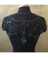 Sequin Beaded Lace Hip Wrap Collar Shoulder Shrug Shawl Applique Peacock... - $38.99
