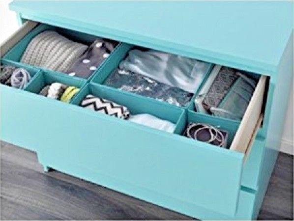 IKEA SKUBB Storage Box Drawer Organizer Set of 6 (Light Blue)