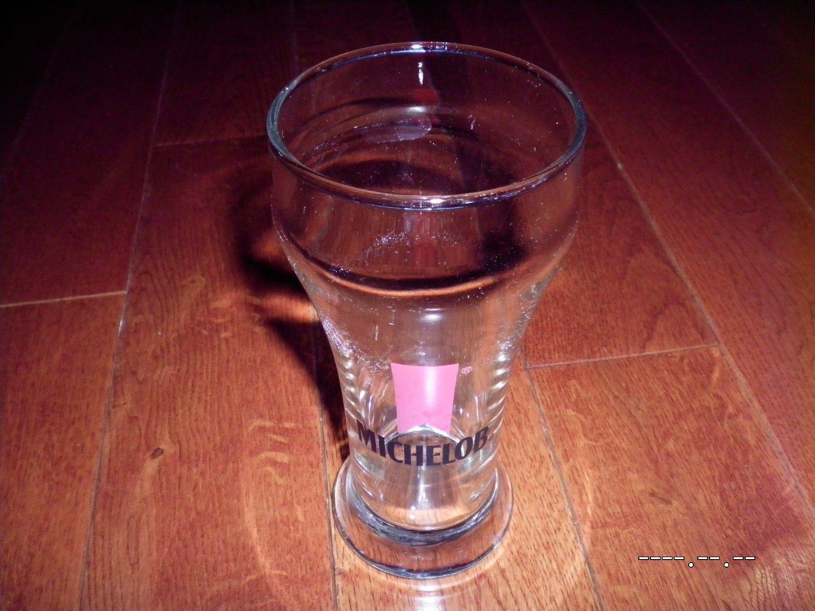 Vintage Michelob Draught Beer Glass mini pilsner scooner draft mancave budweiser