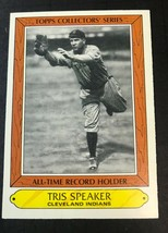 1985 Woolworth's Topps Card #34 Tris Speaker - Cleveland Indians - $1.48