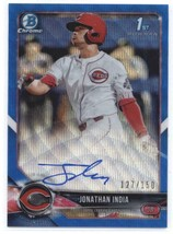 2018 Bowman Draft Chrome Autographs Refractors Blue Wave Jonathan India ... - $269.99