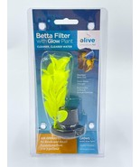 Elive Betta Filter with Glow Plant Air Operated Bowls Small Aquariums .5... - $14.99