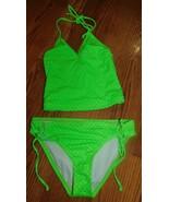 Full Tilt Pin Dot Tankini Girls Swimsuit Set Size 8 Brand New
