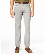 NEW MENS TOMMY HILFIGER STRAIGHT FIT GARMENT-DYED DENIM GREY JEANS - $35.99