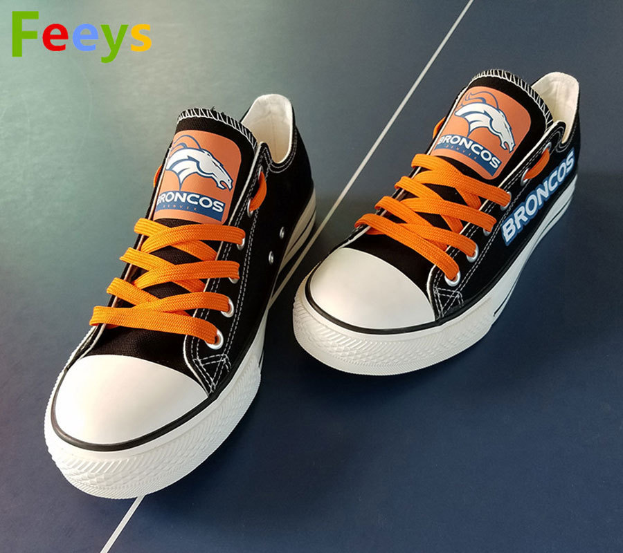 3045b0e3ca5b broncos shoes womens converse style broncos sneakers denver fans birthday  gifts