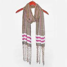 New COLLECTION XIIX Boho Chic Plaid Soft Cotton Woven Scarf Women's Oblong - €9,92 EUR