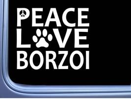 "Borzoi Peace Love L647 Dog Sticker 6"" decal - $3.99"