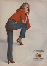 1981 Lee Jeans Sexy Legs Blonde Fashion Vintage Print Ad 1980s - $6.27