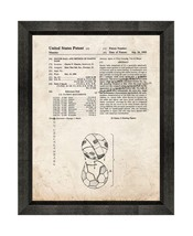 Soccer Ball Patent Print Old Look with Beveled Wood Frame - $24.95+
