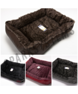 NEW Luxury Soft  Wrax Comfy Leather Washable Dog Cat Warm Cosy Basket Be... - $15.61+