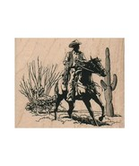 Mounted Rubber Stamp, Cowboy, Desert Cowboy, Rancher, Western, Old West,... - $13.33