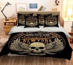 3D Skull Patterns 26 Bed Pillowcases Quilt Duvet Single Queen King US Lemon - $102.84+