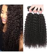 Pizazz Afro Kinky Curly Weave Human Hair 3 Bundles Brazilian Curly Hair ... - $43.94