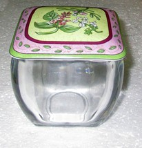PartyLite Porcelain Candle Holder Coaster & Candy Jar With Lid Set - $7.95