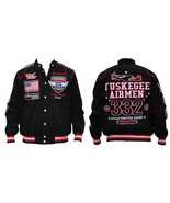 Tuskegee Airmen Twill Jacket 332nd Fighter Group - $129.00