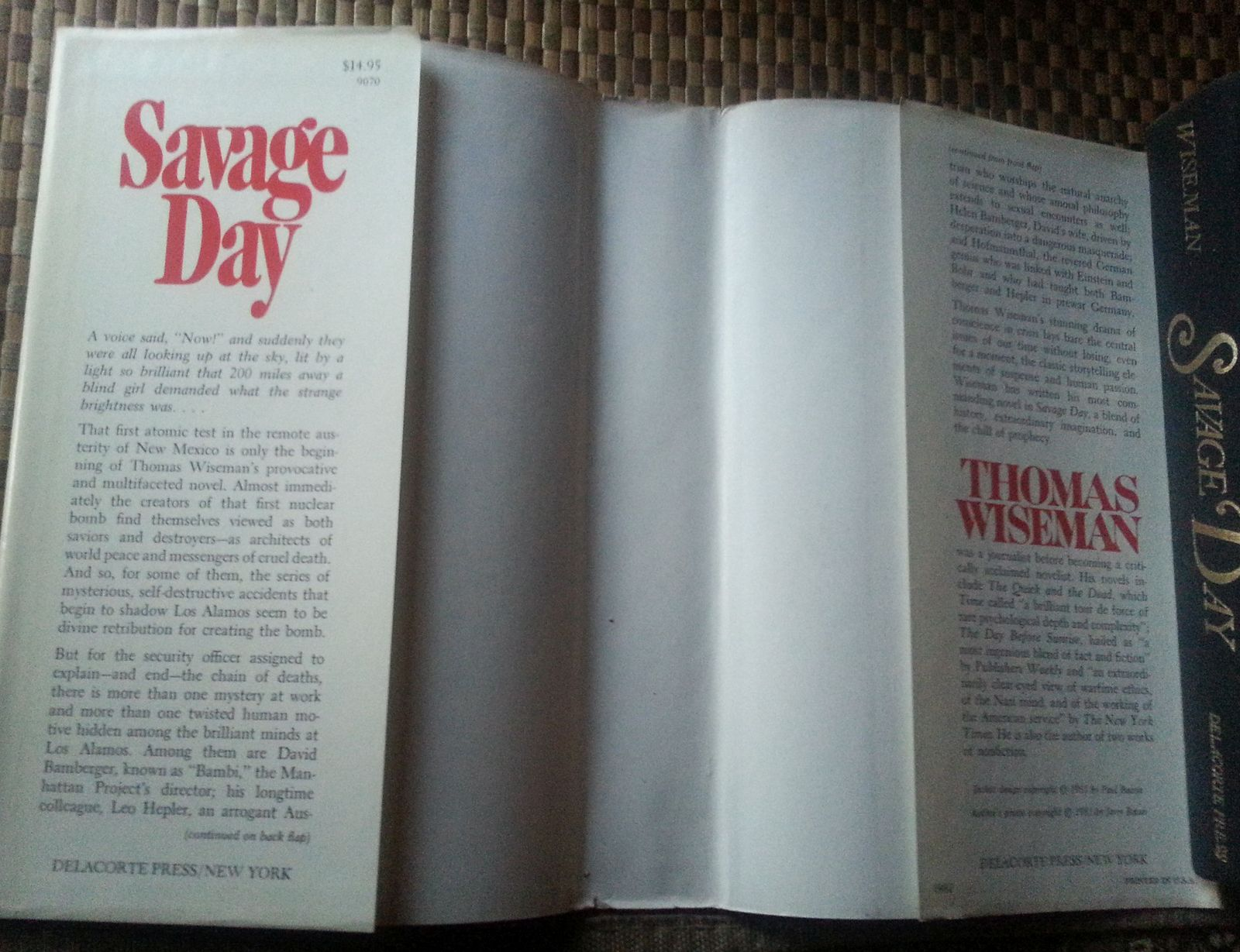 Savage Day by Thomas Wiseman 1981 HBDJ Los Alamos