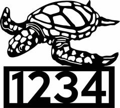 "Sea Turtle Customized Address Sign 15"" x 16 3/4"" - $50.28"