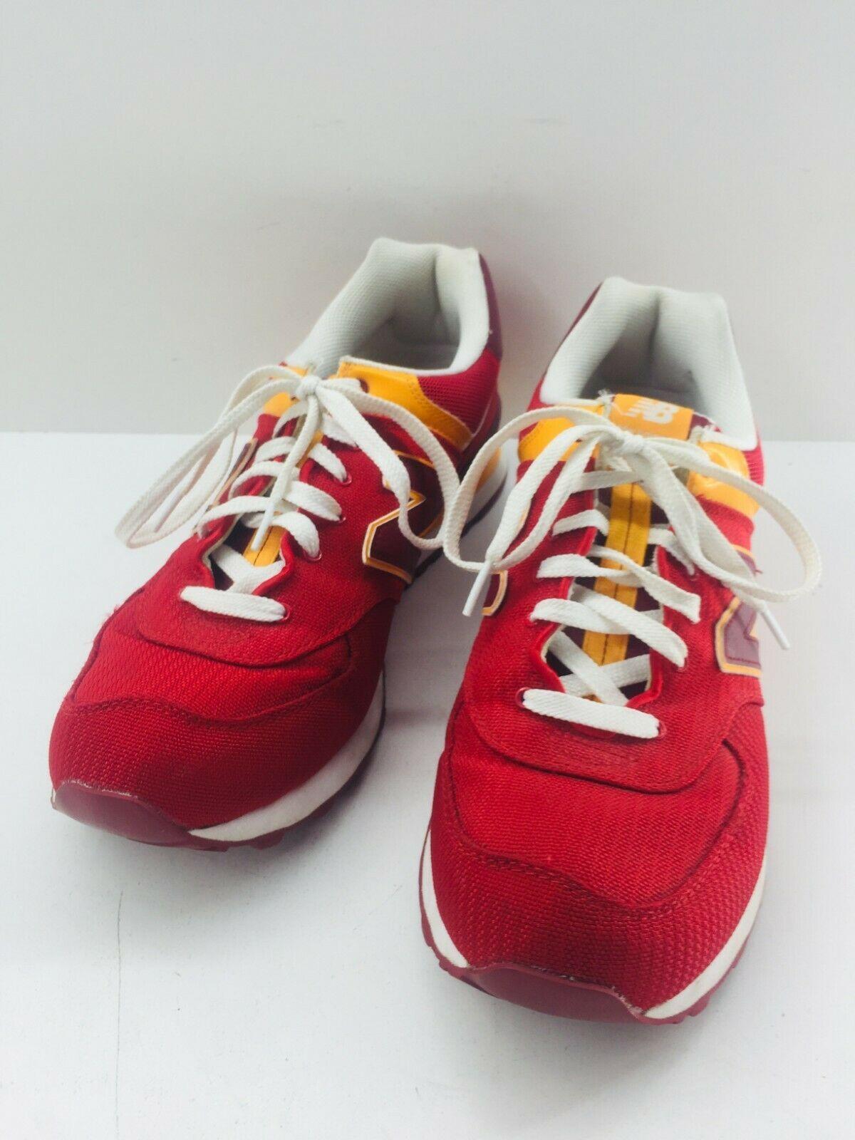 New Balance Athletic Sneaker Shoes Men's Sz 11.5 Red Orange ML574PPR  574 EUC image 5