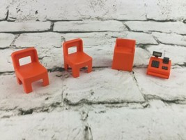Playmobil Replacement Orange Chairs Highchair & Cash Register - $11.88