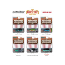 The Hobby Shop Series 2, 6pc Set 1/64 Diecast Model Cars by Greenlight 9... - $57.71