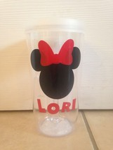Disney Minnie Mouse Inspired Personalized wine to go Tumbler Fish Extender Gifts - $16.82
