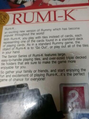 RUMI-K Board Game - Senior Series 1989 - 100% Complete New In Box image 4