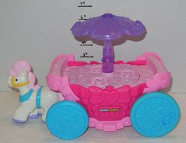 Fisher Price Disney Little People Pink Purple Princess Carriage Carousel Musical image 3