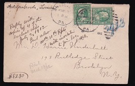 Swissvale, Pennsylvania March 18 1912 - $2.68
