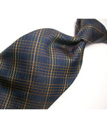 NAUTICA  Blue/GOLD/Green PLAID Mens 100  SILK Necktie  s 8^723 - $18.99