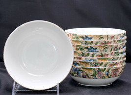 """Royal Doulton Jacobean * 8 ALL PURPOSE CEREAL BOWLS * 6"""", Everyday, Flor... - $42.99"""