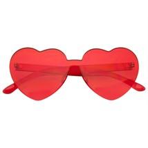 Forma Corazón Gafas Sol Retro Vintage Boho Translúcido Gafas de Sol - $11.46