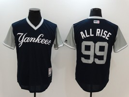 Aaron Judge #99 Navy Blue All Rise New York Yankees Majestic MLB Baseball Jersey - $37.99