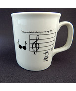 Rubes Comic Music Themed Coffee Mug Allow Me Introduce You To Staff Leig... - $14.50