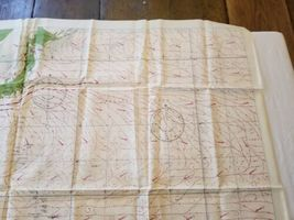 """Rare Vintage 36""""x26"""" Two Sided Western Pacific Cloth Nautical Map Asia China image 7"""