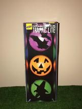 Rare Vintage Halloween Traffic Light Decoration In Box - $39.59