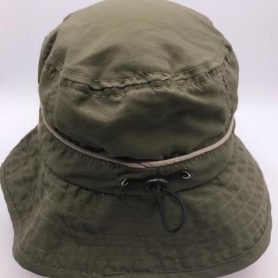 Panama Jack Cotton Safari Green Hat Packer Cap L / XL