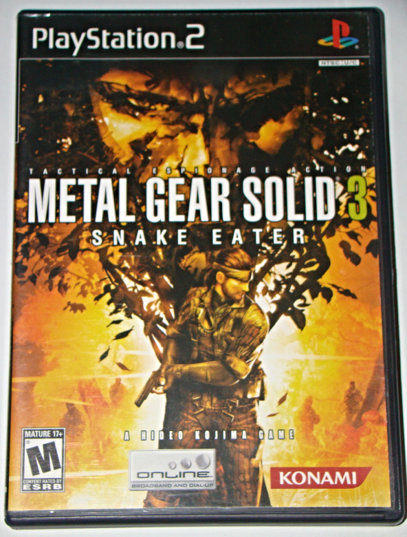 Playstation 2 - METAL GEAR SOLID 3 - SNAKE EATER (Complete with Manual)