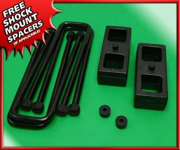 "1994-2001 Dodge Ram 1500 1.5"" Rear Steel Blocks + U-bolts Level Lift Kit... - $58.66"