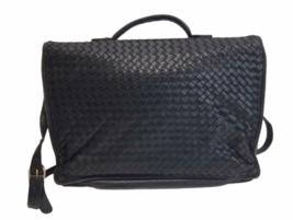 BOTTEGA VENETA Intrecciato Business Bag Briefcase Black Leather Braided image 2