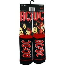 Odd Sox Black/Red AC/DC Highway to Hell Sublimated Crew Socks, 6-13 image 2
