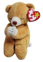 "Praying Teddy Bear TY Hope Beanie Baby Birth March 23, 1998 Gold Yellow 7"" - $9.79"